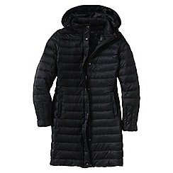 Lands' End - Black women's lightweight down packable coat