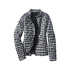 Lands' End - Black printed lightweight down packable jacket
