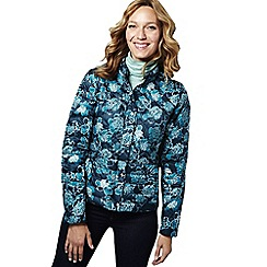 Lands' End - Blue petite printed lightweight down packable jacket