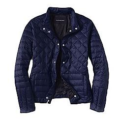 Lands' End - Blue women's lightweight down packable jacket
