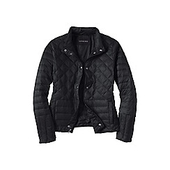 Lands' End - Black women's lightweight down packable jacket
