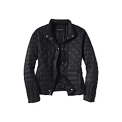 Lands' End - Black lightweight down packable jacket