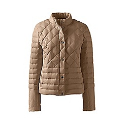 Lands' End - Brown lightweight petite down packable jacket
