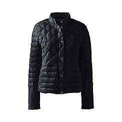 Lands' End - Black tall lightweight down packable jacket