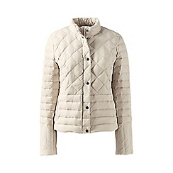 Lands' End - Beige tall lightweight down packable jacket