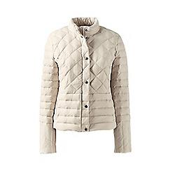 Lands' End - Beige tall lightweight down packable jacket