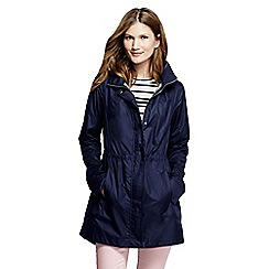 Lands' End - Blue women's lightweight packable rain coat