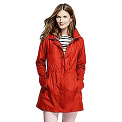 Lands' End - Orange women's lightweight packable rain coat