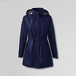 Lands' End - Blue petite lightweight packable rain coat