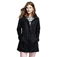 Lands' End - Black women's lightweight packable rain coat