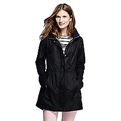 Lands' End - Black petite lightweight packable rain coat