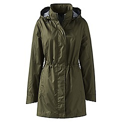 Lands' End - Green lightweight packable rain coat