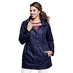 Lands' End - Blue lightweight packable rain coat