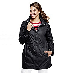 Lands' End - Black women's lightweight packable rain coat