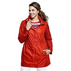 Lands' End - Orange women's lightweight packable rain coat