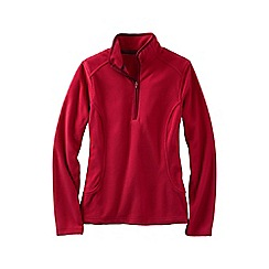 Lands' End - Red everyday fleece 100 half-zip