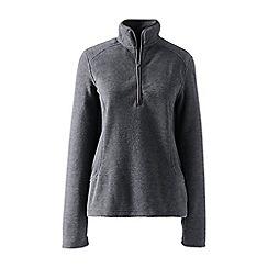 Lands' End - Grey everyday fleece 100 half-zip