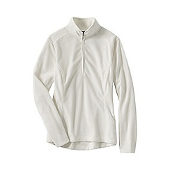 Lands' End - Cream women's everyday fleece 100 half-zip