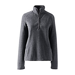 Lands' End - Grey petite everyday fleece 100 half-zip