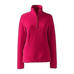 Lands' End - Pink petite everyday fleece 100 half-zip