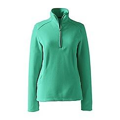 Lands' End - Green petite everyday fleece 100 half-zip