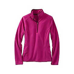 Lands' End - Pink women's everyday fleece 100 half-zip