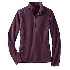 Lands' End - Red women's everyday fleece 100 half-zip