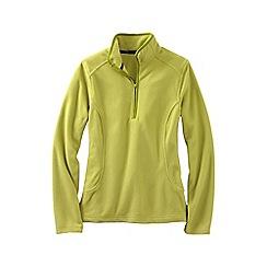Lands' End - Green women's everyday fleece 100 half-zip