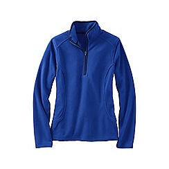 Lands' End - Blue women's everyday fleece 100 half-zip