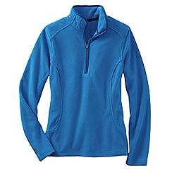 Lands' End - Blue women's everyday fleece 100 half-zip