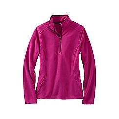 Lands' End - Pink everyday fleece 100 half-zip