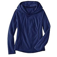 Lands' End - Blue women's everyday fleece 100 hoodie