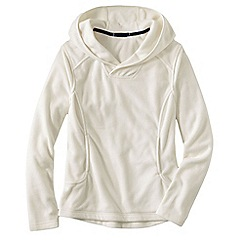 Lands' End - Cream women's everyday fleece 100 hoodie