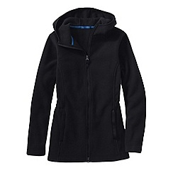 Lands' End - Black women's everyday fleece 200 hooded parka