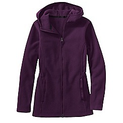 Lands' End - Purple everyday fleece 200 hooded parka