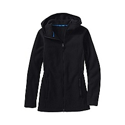 Lands' End - Black women's plus everyday fleece 200 hooded parka