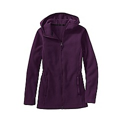 Lands' End - Purple women's plus everyday fleece 200 hooded parka