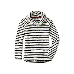 Lands' End - Cream plush fleece pullover