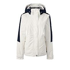 Lands' End - White regular squall hooded jacket