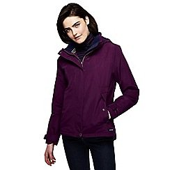 Lands' End - Red women's plus squall hooded jacket