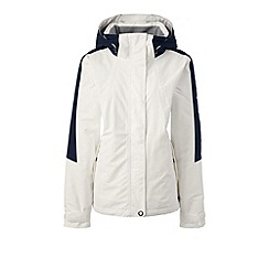 Lands' End - White plus squall hooded jacket