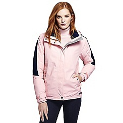 Lands' End - Pink women's plus squall hooded jacket