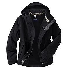 Lands' End - Black women's plus squall hooded jacket