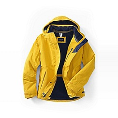 Lands' End - Yellow women's plus squall hooded jacket