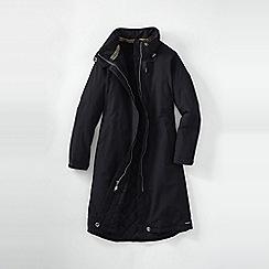 Lands' End - Black women's plus squall stadium coat