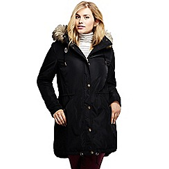 Lands' End - Black insulated coat