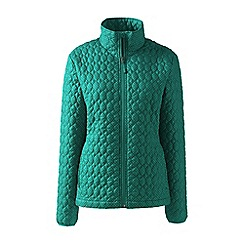Lands' End - Green patterned primaloft packable jacket