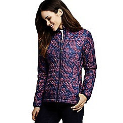 Lands' End - Purple women's patterned primaloft packable jacket