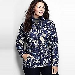Lands' End - Blue women's patterned primaloft packable jacket