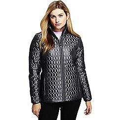 Lands' End - Grey women's primaloft packable jacket and shimmer